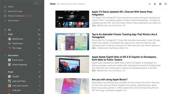 Feedly Curate Content Sources