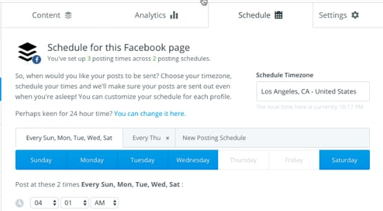 Schedule Times on Twitter