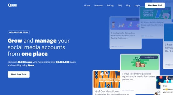 Quoo Manage Accounts