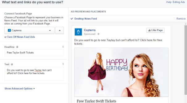Editing Your FB Ad