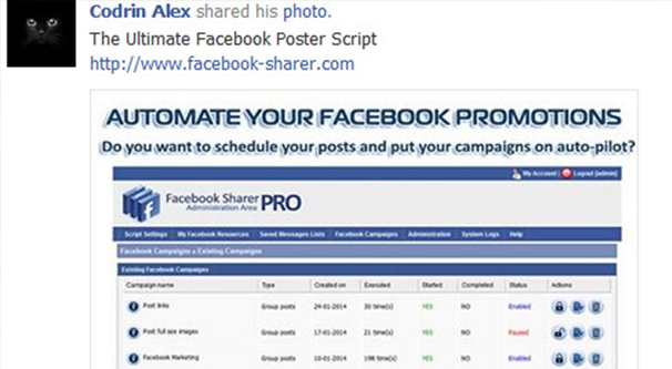 Auto Posting Content on Facebook