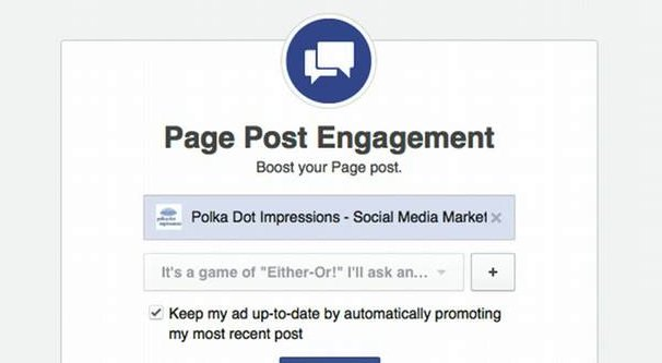 Page Post Engagement Ad