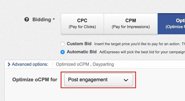 Post Engagement Optimization