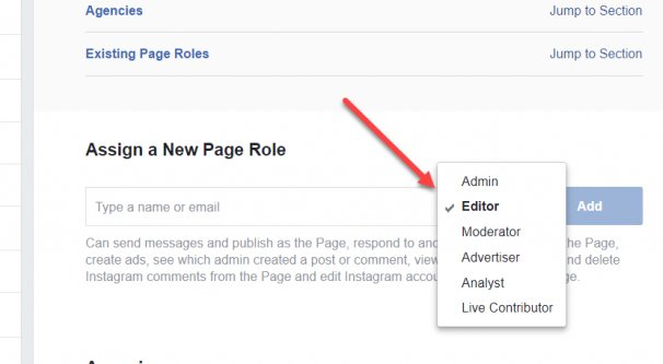 Changing a Page Role