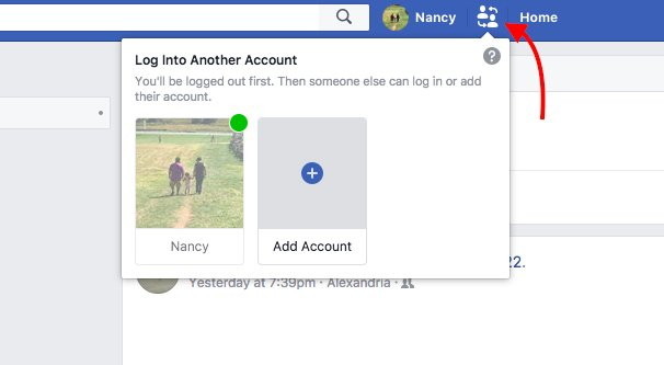 Switching Account on FB