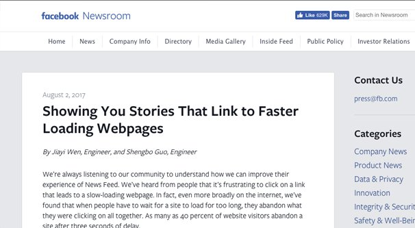Linking to Faster Sites